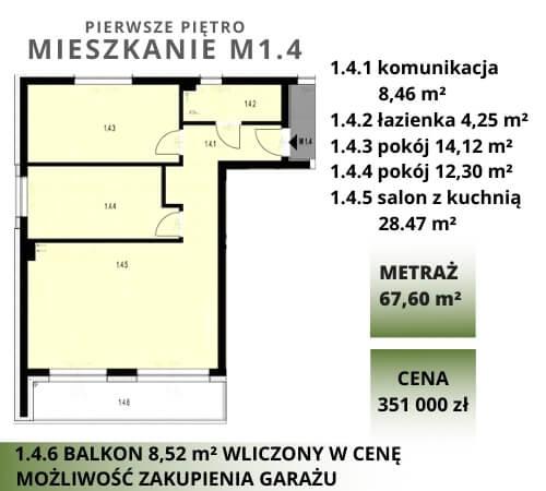 rozkład mieszkania na pierwszym piętrze. Mieszkania na sprzedaż w Legnicy